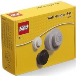 LEGO Zestaw Wieszaków Szary Biały Czarny 4016