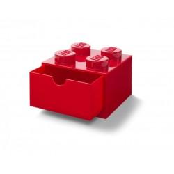LEGO Pojemnik 4 SZUFLADKA NA BIURKO Czerwona 2067