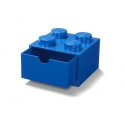 LEGO Pojemnik 4 SZUFLADKA NA BIURKO Niebieska 2074