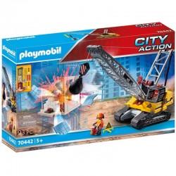 PLAYMOBIL City Action 70442 KOPARKA LINIOWA Z ELEMENTEM KONSTRUKCYJNYM
