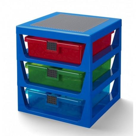 LEGO Niebieski Regał z Szufladami Na Klocki i Zabawki 4095