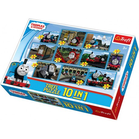 Trefl - 90170 - Puzzle - Tomek i Przyjaciele - 10 w 1