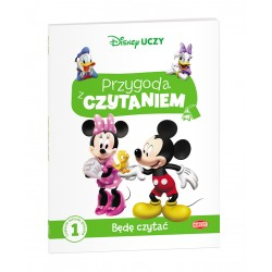 Ameet Książeczka Disney Uczy PRZYGODA Z CZYTANIEM Będę Czytać Myszka Miki 332730