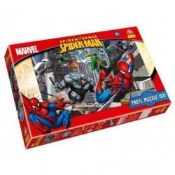 Trefl - 16158 - Puzzle 100 - Spider-Man Atak