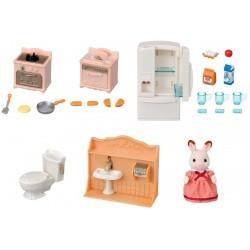 SYLVANIAN FAMILIES Zestaw Urządzeń Domowych + Figurka Królika 5449