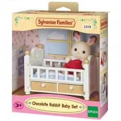 SYLVANIAN FAMILIES Dziecko Królików + Łóżeczko 5017