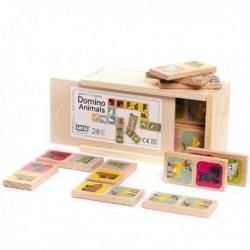 BAJO Drewniane Domino ZWIERZĘTA 91130