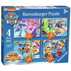 RAVENSBURGER Układanka Puzzle 4w1 PSI PATROL Potężne Szczeniaki 030293