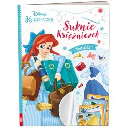 Ameet Książeczka Ubieranki Naklejanki Disney Księżniczka SUKNIE KSIĘŻNICZEK Podróże 333003