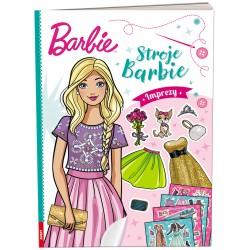 Ameet Książeczka Ubieranki Naklejanki Barbie STROJE BARBIE Imprezy 334086