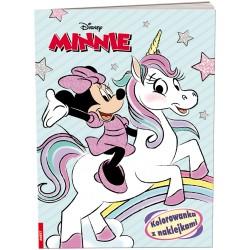 Ameet Książeczka Disney KOLOROWANKA Z NAKLEJKAMI Myszka Minnie 334130
