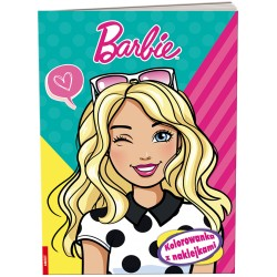 Ameet Książeczka KOLOROWANKA Z NAKLEJKAMI Barbie 334598