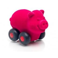 RUBBABU Sensoryczny Zwierzaczek Pojazd RÓŻOWA ŚWINKA 201373