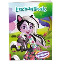 Ameet Książeczka Disney KOLOROWANKA Z NAKLEJKAMI Enchantimals 334079