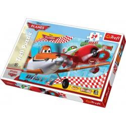 Trefl - 14190 - Puzzle 24 - Maxi - Samoloty - Podniebni Przyjaciele