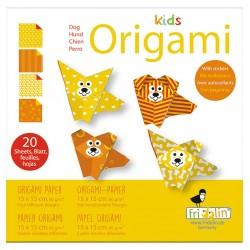 FRIDOLIN Zestaw do Origami z Naklejkami KIDS ORIGAMI Pies 11372