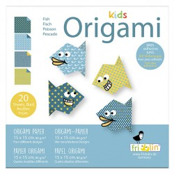 FRIDOLIN Zestaw do Origami z Naklejkami KIDS ORIGAMI Ryba Poziom Łatwy 11373