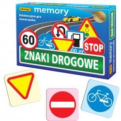 ADAMIGO Edukacyjna Gra Towarzyska MEMORY Znaki Drogowe 3297