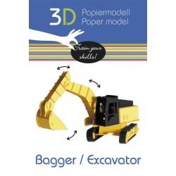 FRIDOLIN Papierowy Model 3D KOPARKA 11581