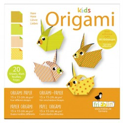 FRIDOLIN Zestaw do Origami z Naklejkami KIDS ORIGAMI Królik Poziom Średni 11375