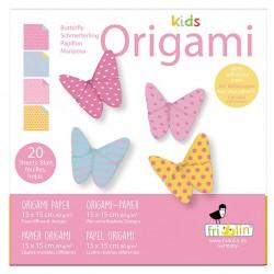 FRIDOLIN Zestaw do Origami z Naklejkami KIDS ORIGAMI Motyl Poziom Średni 11376