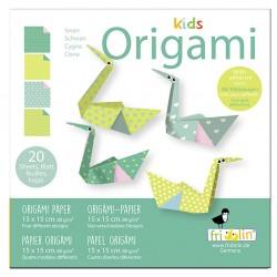 FRIDOLIN Zestaw do Origami z Naklejkami KIDS ORIGAMI Łabędź Poziom Łatwy 11377