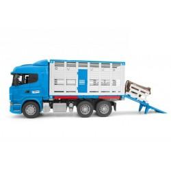 BRUDER Ciężarówka Scania do przewozu zwierząt z figurką 03549