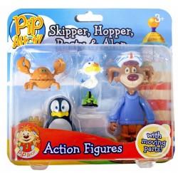 PIP AHOY! Zestaw Figurek SKIPPER HOPPER PASTY ALAN 10206