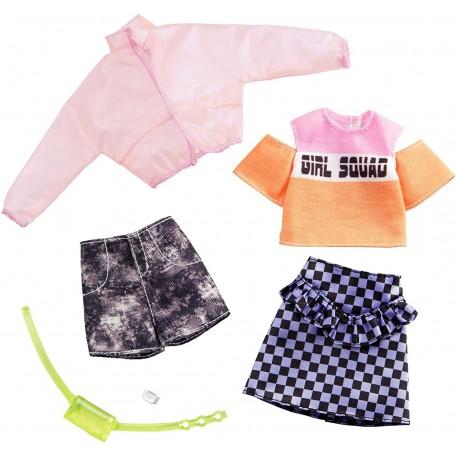 MATTEL Zestaw Ubranek dla Barbie + Akcesoria 2Pak GIRL SQUAD GHX58
