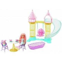 Mattel Barbie Dreamtopia CHELSEA SYRENKA Z ZAMKIEM FXT20