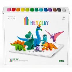 HEY CLAY Masa Plastyczna ZESTAW DINOZAURY 40068