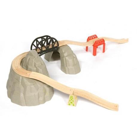 Bigjigs Toys - BJT139 - Górska Przeprawa - do Kolejek Drewnianych