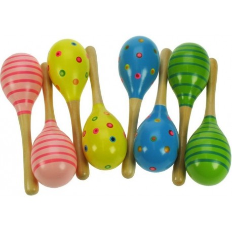 Bigjigs Toys - BJ195 - Kolorowe Marakasy