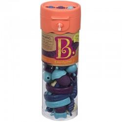 B.TOYS - BX1400Z - B.euty Pops - Zestaw do Robienia Biżuterii 50 el. - Pomarańczowy