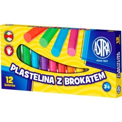 ASTRA - 30637 - Plastelina - Plastelina z BROKATEM - 12 Kolorów