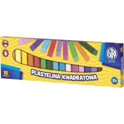ASTRA - 0545 - Plastelina - Plastelina KWADRATOWA - 18 Kolorów