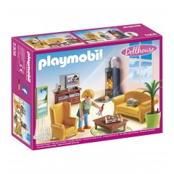 PLAYMOBIL 5308 DOLLHOUSE Romantyczny Domek dla Lalek - Salon z Kominkiem