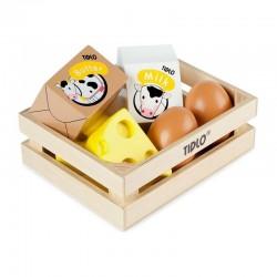 TIDLO Drewniane Jajka i Nabiał T0103