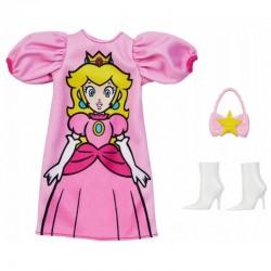 MATTEL Ubranka dla Barbie + Akcesoria SUPER MARIO KSIĘŻNICZKA PEACH GHX97
