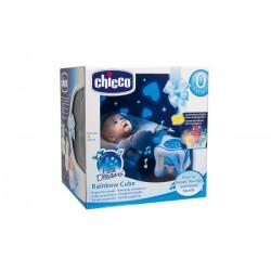 CHICCO - 59862 - Projektor Światła i Dźwięku - Tęczowa Kostka - Rainbow Cube