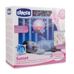 CHICCO - 24643 - Projektor Światła i Dźwięku - Panel Zabaw do Łóżecza - Sunset
