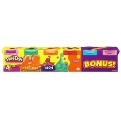 Ciastolina Play-Doh - 23566 - Tuby 4+2