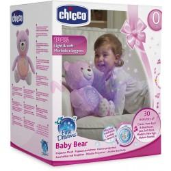 CHICCO - 60368 - Projektor Światła i Dźwięku - Pluszowy Miś Projektor - Baby Bear