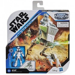Hasbro Star Wars Mission Fleet POJAZD AT-RT + KAPITAN REX E9681