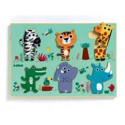 DJECO Puzzle Drewniane DŻUNGLA 01258