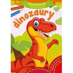 Skrzat Książeczki dla Dzieci Kolorowanka MALUSZKOWE MALOWANIE Dinozaury 8355