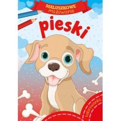 Skrzat Książeczki dla Dzieci Kolorowanka MALUSZKOWE MALOWANIE Pieski 7594