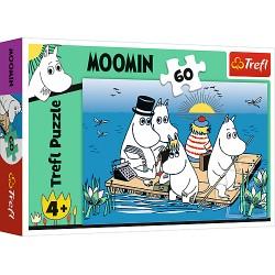 TREFL Układanka Puzzle 60 Elementów Moomin MUMINKI NAD JEZIOREM 17352