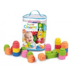 CLEMENTONI Baby Clemmy Worek z 48 Klockami 17134