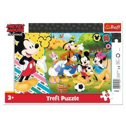 TREFL Puzzle na Podkładce w Ramce 15 Elementów MYSZKA MIKEY I PRZYJACIELE Mikey na Wsi 31353